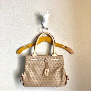 Dooney and Bourke Small Canvas Tassle Tote NEW
